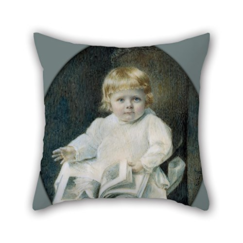 Oil Painting Edward Elias Kaufer - Portrait Of A Boy Pillow Shams Best For Kids Room Adults Car Seat Home Boys Teens Boys 20 X 20 Inches  50 By 50 Cmboth Sides
