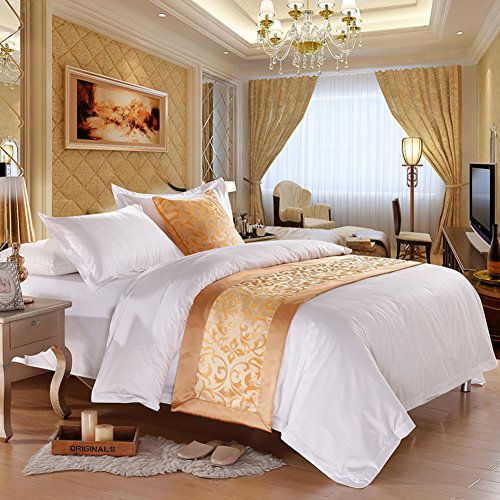 Luxury Bed RunnerSoft No Fading Bedding Runner Modern Scarf Protection Bed End Scarf Slipcover Bed Decorative Scarf for Bedroom Hotel Wedding Room