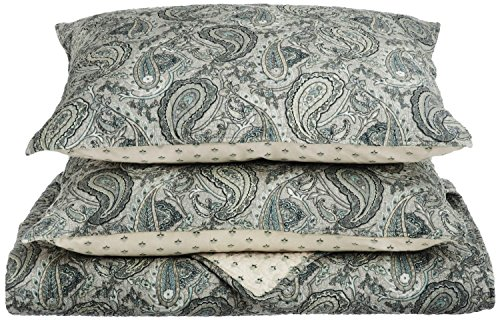 Superior Moroccan Paisley 100 Cotton 2-Piece Twin Quilt Set in Grey