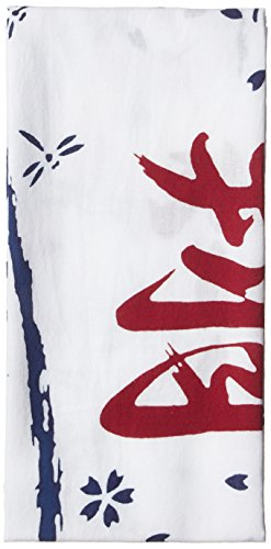 Washcloths TENUGUI SHO-dragonflies and cherry blossoms design Japanese hand towels Cotton 100 Blue and red