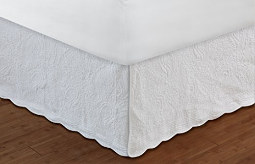 Greenland Home 18-Inch Paisley Bed Skirt Twin