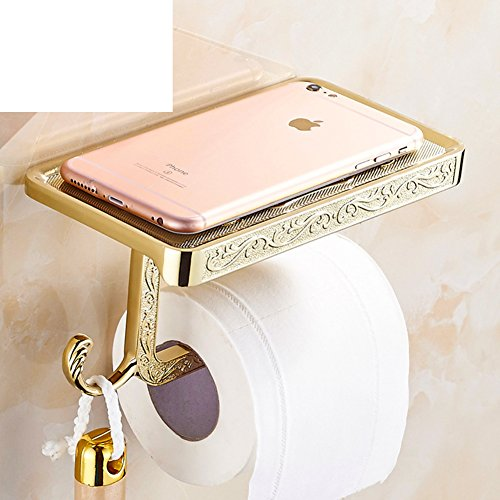 Stainless steel mobile Towel rackToilet paper shelf toiletBathroom storage rack toilet roll holderPhone Holder-J