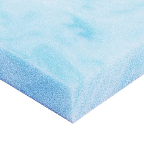 Avana Comfort Cool Gel Memory Foam Mattress Topper - Ultra Premium 4 LB Density - 1 Inch Thick Queen Size