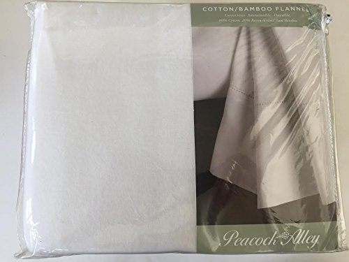 Peacock Alley King Sheet Set Bamboo Cotton Flannel White