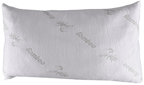 """Pillow-z Queen Size Bamboo Pillow - Premium Quality Filled with Shredded Memory Foam and Soft Cover Sleep Comfortable and Wake up Relaxed 295"""" By 20 Inch"""
