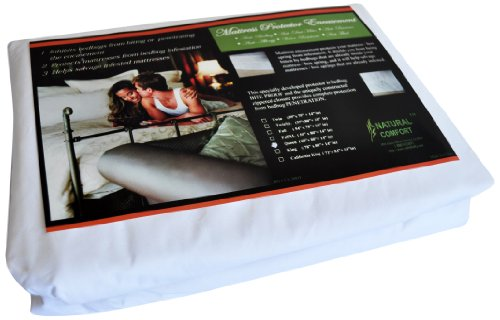Natural Comfort Anti-Bedbug Waterproof Box SpringMattress Encasement 9-Inch Twin X-Large