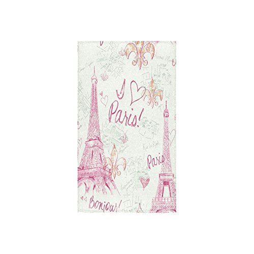 French Paris Amazing Eiffel Tower City Of Love Thin Soft Towel 16x28One-sided Printing