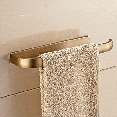 Towel Rack Towel Holder Stainless Steel Towel Bar A full continental antique brass towel rack towel rack Towel Ring Toilet brush antique ornaments suit towel ring Wall Mounted Towel Bar Drill Towel S